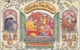 Japan NTT Free Card Disney Winnie The Pooh 110-197253 - Disney