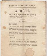 Cent Jours, 7 Mai 1815  : Renouvellement Des Maires Et Adjoints (2 Scans)  11 Pages - Documenti Storici