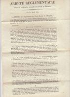 Empire, Gard, 1811 : Vérification Annuelle Des Poids Et Mesures, 4 Pages, (2 Scans) - Documenti Storici