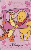 Japan NTT Free Card Disney Winnie The Pooh 110-209562 - Disney