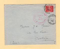 Maroc - Taza Ville - 1955 - 5e Regiment D Infanterie - Timbre FM - Storia Postale