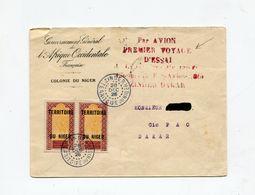 !!! NIGER, LETTRE DE ZINDER POUR DAKAR DE 1925, 1ER VOYAGE D'ESSAI PAR AVION ZINDER - DAKAR - Niger (1921-1944)