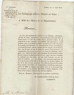 2è Restauration, Gard : Recensement Des Docteurs, Chirurgiens, Pharmaciens....1818 - Documenti Storici