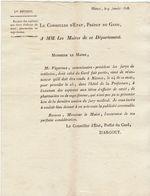 2è Restauration, Gard : Examen Officier De Santé, Pharmacien, Sage-femme 1818 - Documenti Storici