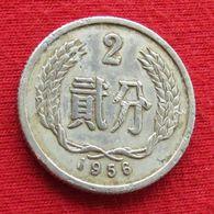 China 2 Fen 1956 Y# 2 Chine - Chine