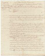 Révolution, Bouches Du Rhône, An 3 : Lettre De La Commission Des Trente Et Un Sur Les Grains - Documenti Storici