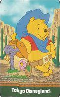 Japan NTT Free Card Disney Winnie The Pooh 110-209428 - Disney