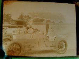 Négatif Souple Photographie Mme Jannine JENNKY Pilote Automobile à MONTLHERY En  1927 - Automobile