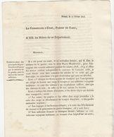 2è Restauration, Gard : Service Des Convois Militaires 1818 (3 Pages) - Documenti Storici