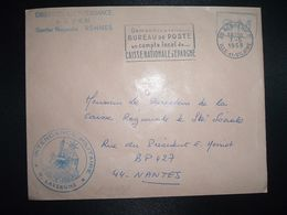 LETTRE OBL.MEC.7-5 1968 35 RENNES RP ILLE ET VILAINE DIRECTION DE L'INTENDANCE De La 3e R.M.+INTENDANCE N. LAVERGNE - Postmark Collection (Covers)
