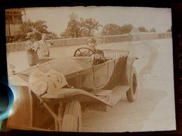 Négatif Souple Photographie Mme MERTENS Pilote Automobile à MONTLHERY En  1927 - Automobile