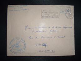 LETTRE OBL.MEC.13-6 1968 35 RENNES RP ILLE ET VILAINE DIRECTION DE L'INTENDANCE De La 3e R.M.+INTENDANCE N. LAVERGNE - Postmark Collection (Covers)