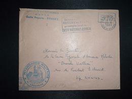 LETTRE OBL.MEC.25-6 1968 35 RENNES RP ILLE ET VILAINE DIRECTION DE L'INTENDANCE De La 3e R.M.+INTENDANCE N. LAVERGNE - Postmark Collection (Covers)