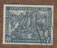 ALLEMAGNE  (Y&T) 1949 -.n°57    *Zones Sovietique. Foire D'Automne De Leipzig*   12p+8p *  Obli - Zona Sovietica