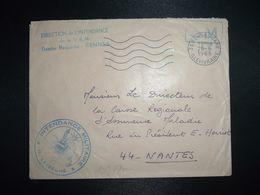 LETTRE OBL.MEC.28-6 1968 35 RENNES GARE ILLE ET VILAINE DIRECTION DE L'INTENDANCE De La 3e R.M.+INTENDANCE N. LAVERGNE - Postmark Collection (Covers)