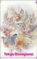 Japan NTT Free Card Disney Winnie The Pooh And Friends 110-182032 - Disney
