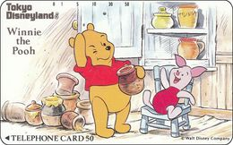 Japan NTT Free Card Disney Winnie The Pooh And Friends 110-67965 - Disney