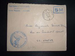 LETTRE OBL.21-1 1969 POSTE AUX ARMEES DIRECTION DE L'INTENDANCE De La 3e R.M. RENNES (35)+INTENDANCE N. LAVERGNE - Postmark Collection (Covers)