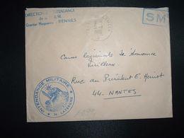LETTRE OBL.31-1 1969 POSTE AUX ARMEES DIRECTION DE L'INTENDANCE De La 3e R.M. RENNES (35)+INTENDANCE N. LAVERGNE - Postmark Collection (Covers)