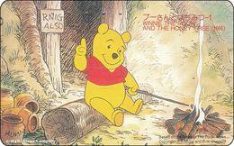 Japan NTT Free Card Disney Winnie The Pooh And Friends 110-155465 - Disney