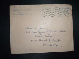 LETTRE OBL.MEC.27-1 1969 POSTE AUX ARMEES DIRECTION DE L'INTENDANCE De La 3e R.M. RENNES (35) - Postmark Collection (Covers)