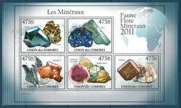 Comoro Islands - 2011 Minerals MNH** - Lot. A399 - Minerali