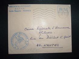 LETTRE OBL.MEC.6-2 1969 POSTE AUX ARMEES DIRECTION DE L'INTENDANCE De La 3e R.M. RENNES (35) INTENDANCE N. LAVERGNE - Postmark Collection (Covers)
