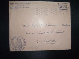 LETTRE OBL.MEC.5-5 1969 POSTE AUX ARMEES DIRECTION DE L'INTENDANCE De La 3e R.M. RENNES (35) INTENDANCE N. LAVERGNE - Postmark Collection (Covers)