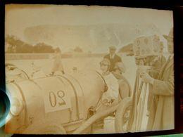 Négatif Souple Photographie Mme MONCHANIN  Pilote Automobile à MONTLHERY En  1927 BUGATTI ? Ancienne Caméra - Automobile