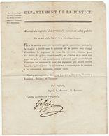 Révolution, An  2 , Comité De Salut Public : Jugement Des Citoyens - Signé Gohier (tampon) - Documenti Storici
