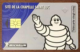 MICHELIN BIBENDUM SITE DE LA CHAPELLE SAINT-LUC TÉLÉCARTE 25 UNITÉS RÉFÉRENCE PHONECOTE Hn84 PHONECARD - Voitures