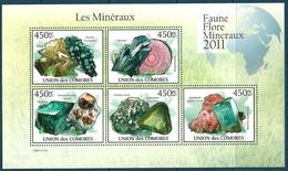 Comoro Islands - 2011 Minerals MNH** - Lot. A400 - Minerali