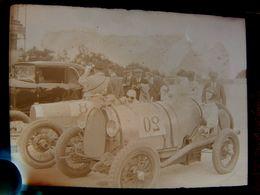 Négatif Souple Photographie Mme Ph.  MONCHANIN  Pilote Automobile à MONTLHERY En  1927 BUGATTI ? - Automobile