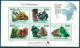 Comoro Islands - 2011 Minerals MNH** - Lot. A400 - Minéraux