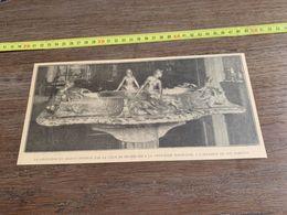 ANNEES 20/30 JARDINIERE EN ARGENT OFFERTE PAR LA VILLE DE BRUXELLES PRINCESSE MARIE JOSE - Alte Papiere