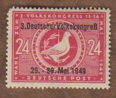 ALLEMAGNE  (Y&T) 1949 -.n°51A    *Zones Sovietique. 3è Congrès Populaire*   24p *  Neuf/new - Zona Sovietica