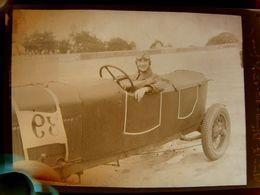 Négatif Souple Photographie MmeG. BLUM Gagnante 1ère 1/2 Finale Pilote Automobile à MONTLHERY En  1927 - Automobile
