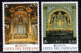 CITTÀ DEL VATICANO VATIKAN VATICAN 2014 VARIETÀ VARIETY EUROPA CEPT STRUMENTI MUSICALI SERIE COMPLETA COMPLETE SET MNH - Vatican