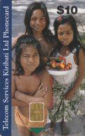 "Kiribati, KI-TSK-0002B, Three Children, 2 Scans.   Chip : Siemens - S35 (Module 35) , The ""rare"" Chip - Kiribati"