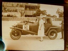 Négatif Souple Photographie Mme DUPECHEZ Gagnante De La Finale  Pilote Automobile à MONTLHERY En  1927 - Automobile