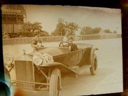 Négatif Souple Photographie Mme G. MERTENS Gagnante De La 3ème 1/2  Finale  Pilote Automobile à MONTLHERY En  1927 - Automobile