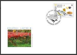 Slovenia Slowenien Slovenie 2020: FDC Cover; Euromed Postal; Gastronomy Food; Wine Vene Vino Jota Extra Virgin Olive Oil - Alimentation