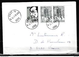 Brief Van Post 14 Naar Veurne - Belgium