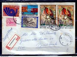 Aangetekende Brief Van Antwerpen A1D Naar Borsbeek - Belgium