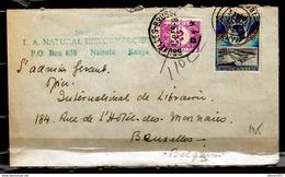 Brief Van Kenya Naar Bruxelles (Belgie) L.A.Natural Instory Societe - Kenya (1963-...)