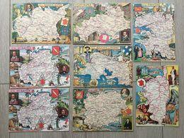 Lot 8 Cartes Postales - Série BLONDEL ROUGERY N°4 ; 5 ; 13 ; 20 ; 29 ; 74 (x2) ; 84 - Mapas