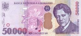 ROMANIA P. 109A 50000 L 2000 UNC - Roumanie