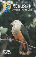 Palau, PW-PNC-0008, $25, Debusch Prepaid Phone Card, Bird, 2 Scans. - Kiribati