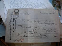 Wien 1870 M Schnapper Bank Wechsler Geschaft Der N O Estrompte Gesellschaft  5 Kr Tax Stamps - Autriche