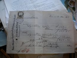 Wien 1870 M Schnapper Bank Wechsler Geschaft Der N O Estrompte Gesellschaft  5 Kr Tax Stamps - Österreich